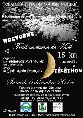 Trail nocturne de Gémenos