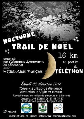 Trail Nocturne de Gémenos 2016